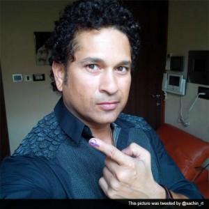 Sachin Tendulkar begins birthday by casting vote