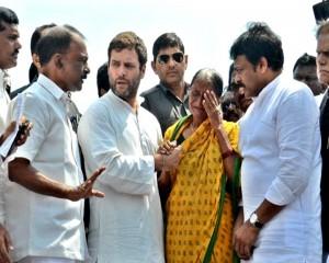 Rahul Gandhi visits cyclone hit Visakhapatnam