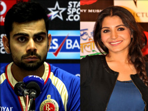Virat Kohli blows a kiss to Anushka Sharma