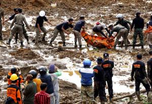 100 missing in Indonesian landslide