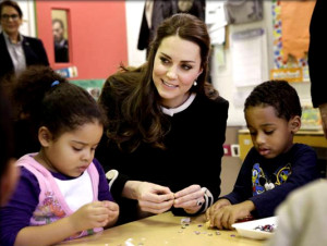 Prince William joins Obama while Kate meets preschoolers