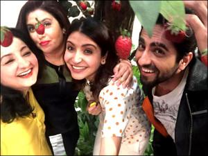 Anushka Sharma, Ayushmann Khurrana, Karan Johar on Farah Ki Daawat