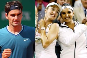 Roger Federer Congratulates Sania Mirza Martina Hingis