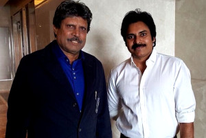 Pawan Kalyan meets Kapil Dev