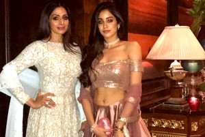 Sridevi And Daughter Jhanvi Own The Ethnic Look