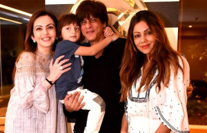 Nita Ambani visits Gauri Khan's store AND Poses with cute abram