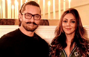 Aamir Stops By Gauri Khan's Design Space