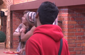 Akash Dadlani forcibly kissing Shilpa on the lips and harassed her