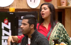 Arshi Khan Blame Shilpa looking her father badly( Gandi Nazar )