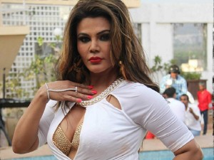 Rakhisawant Doing yoga in the flight