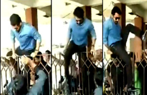 Actor Suriya jumped cinema hall gates